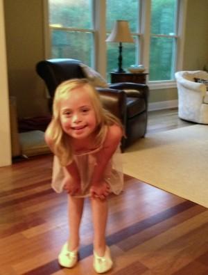 Sofia after her recent ballet class