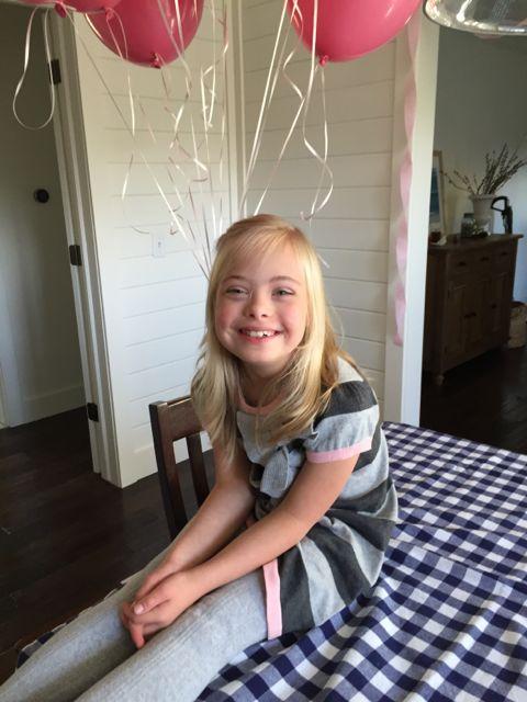 Sofia celebrating her 9th birthday